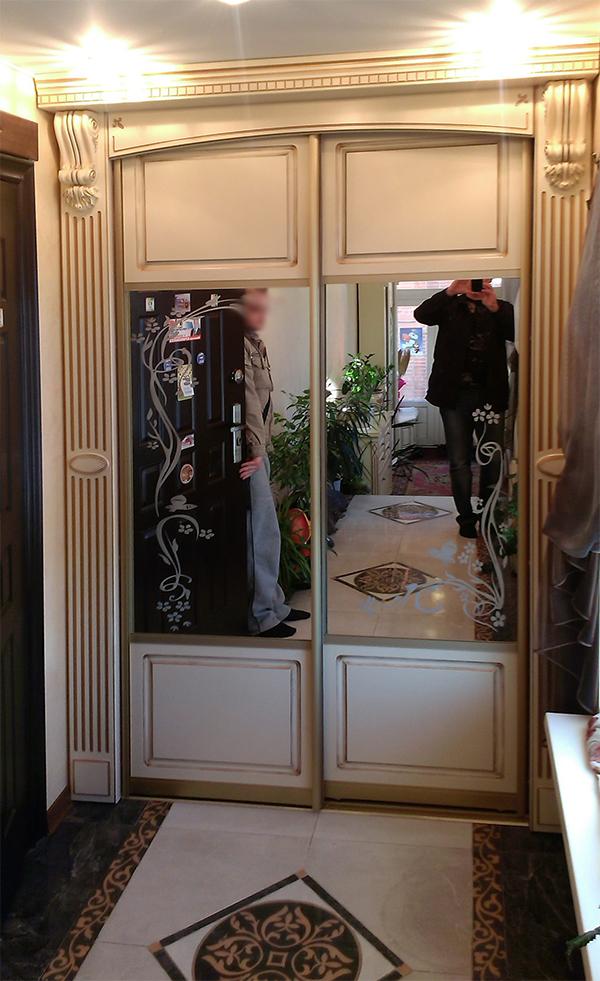 ВикО Мебель Миасс - шкаф-купе с патинированием