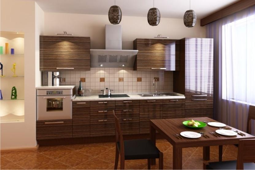 Прямой кухонный гарнитур в стиле модерн - ВикО Мебель Миасс